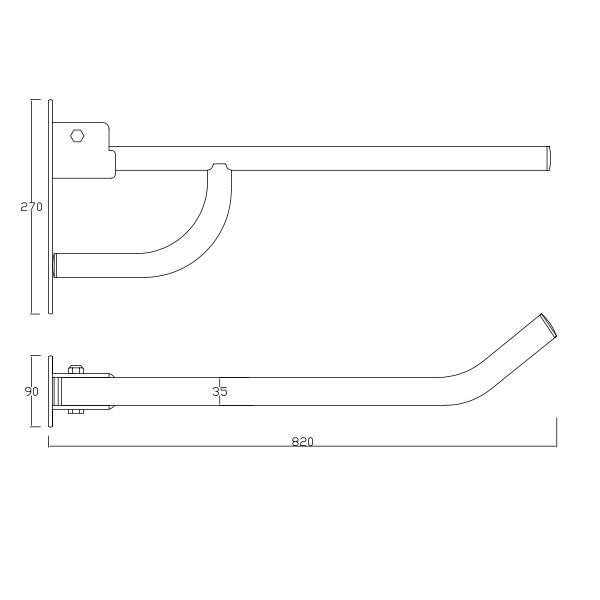 Barra de apoio rebativel simples dirt 35mm