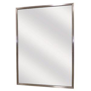 Espelho ajustável verticalmente na inclinação.