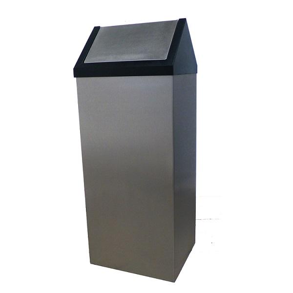PAPELEIRAS 40 / 65 / 80 LT. com tampa basculante concebida para depositar os resíduos.
