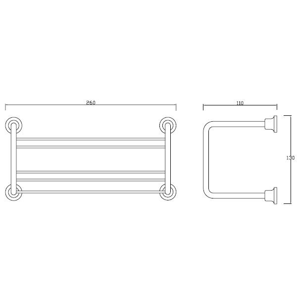 Porta champô concebido concebida para utensílios de banho, ideal no duche.
