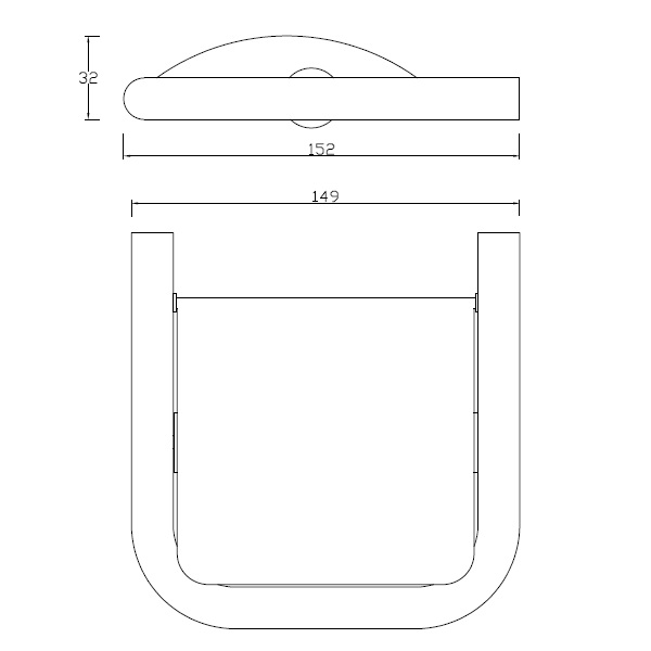 Porta roloconcebido para suporte do papel higiénico.
