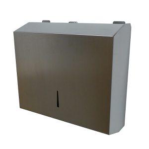 Porta toalhas c/ fecho ideal para espaços públicos graças ao sistema de fecho anti-vandalismo.