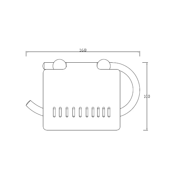 Porta rolo concebido para suporte de papel higiénico.