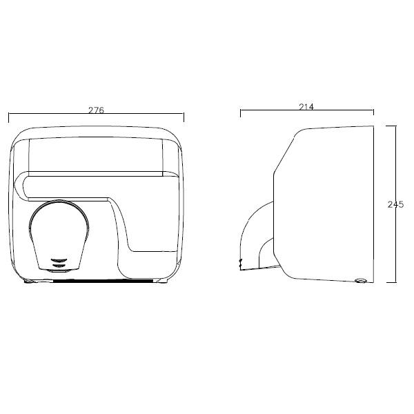 Secador de mãos, ideal para espaços públicos.